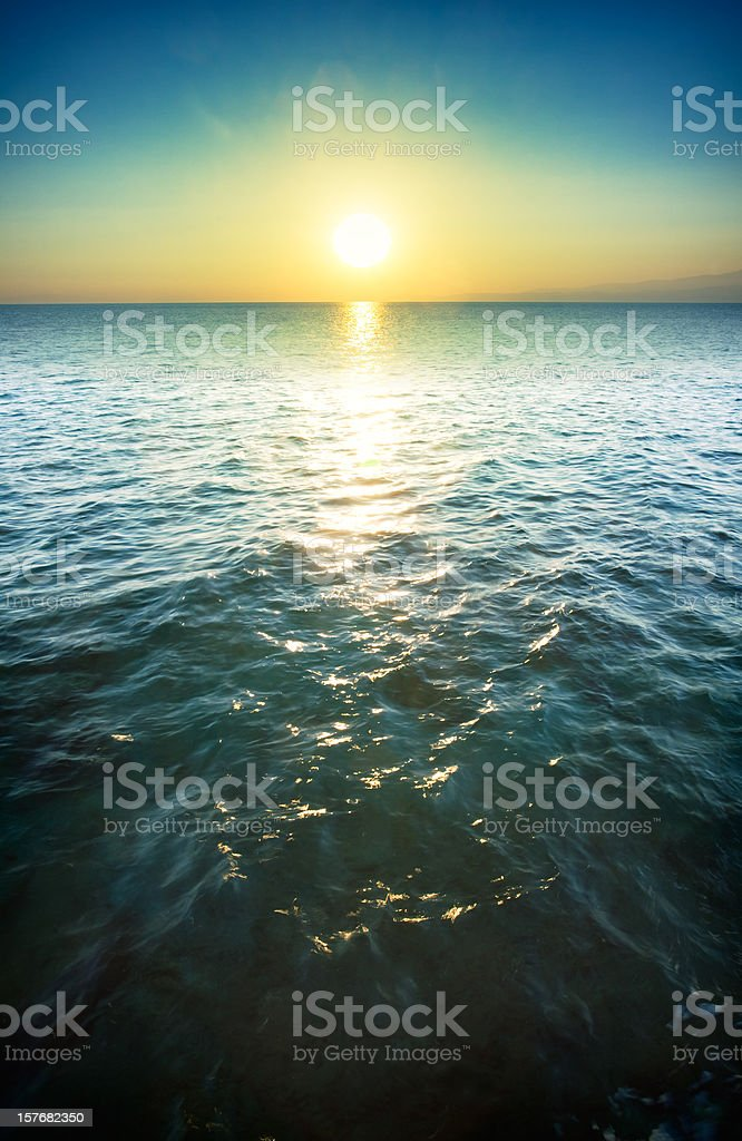 Romantic colorful sunset royalty-free stock photo