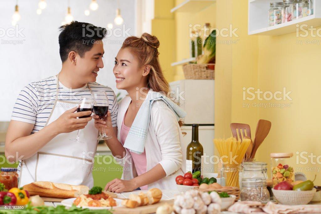 Romantik yemek royalty-free stock photo