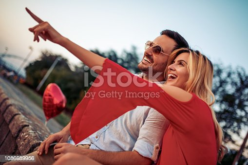 1069131934 istock photo Romantic couple enjoying together outdoors 1086689956