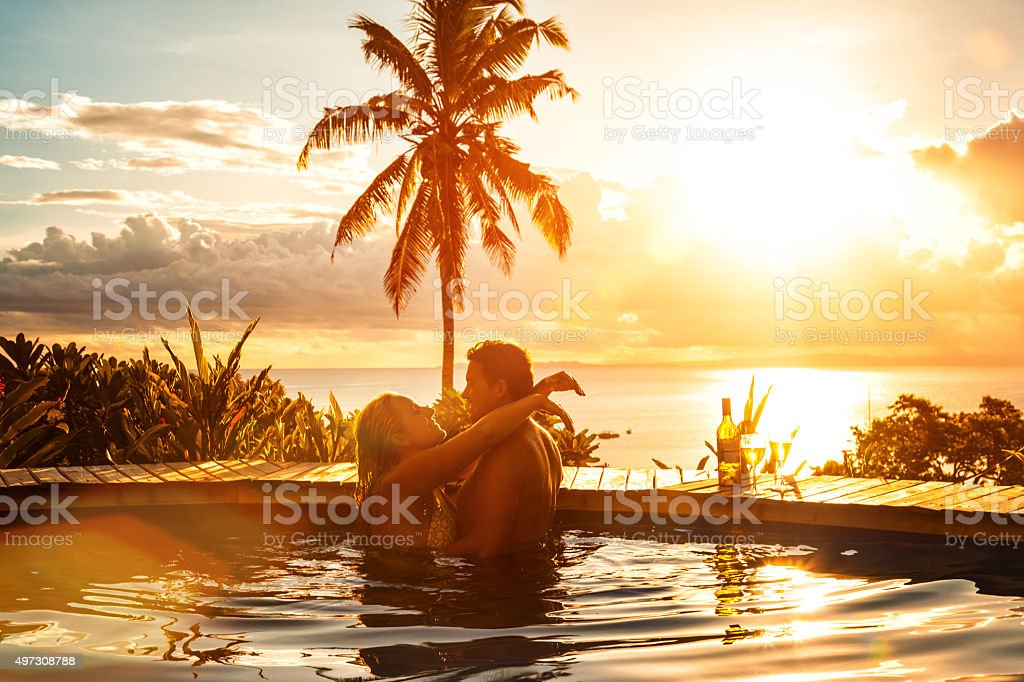 Romantic Couple on Vacation stock photo