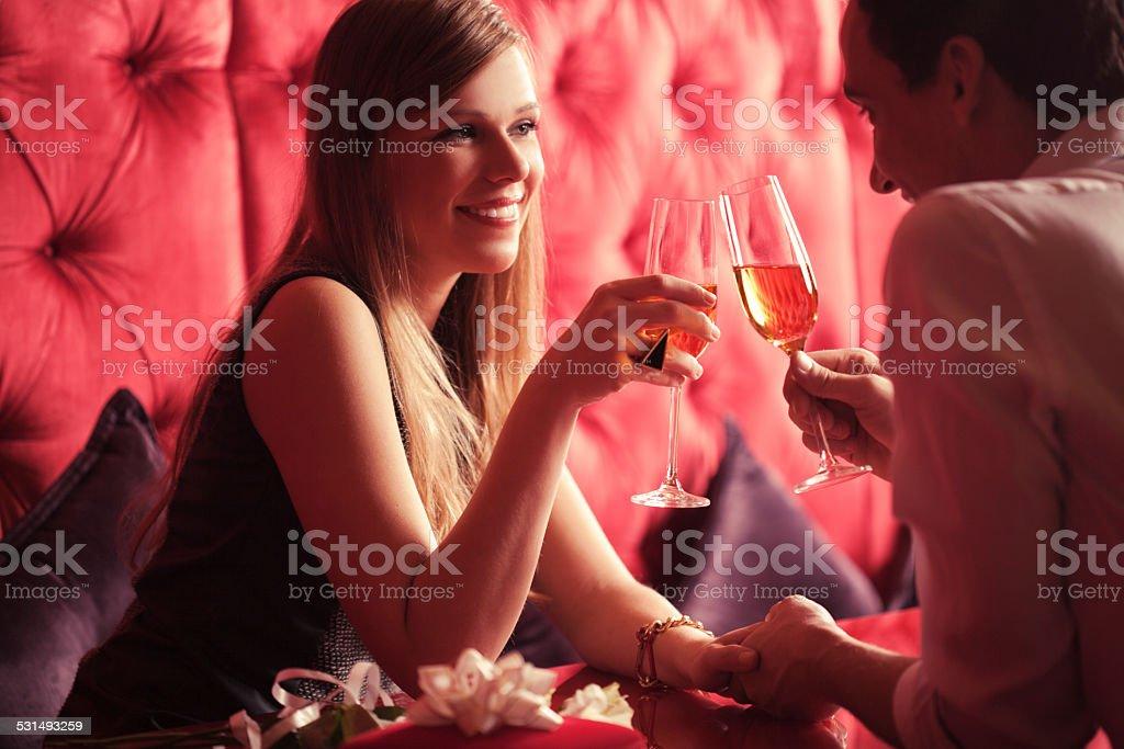 Romantic Couple on Valentine's Day stock photo