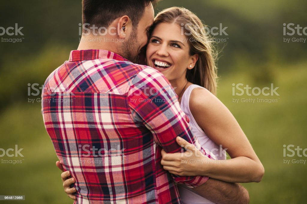 Romantic couple outdoor royalty-free stock photo