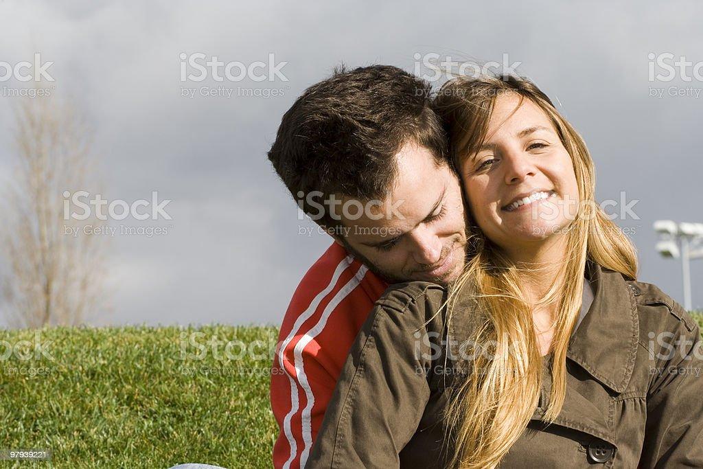 Romantic couple outdoor royalty-free stock photo