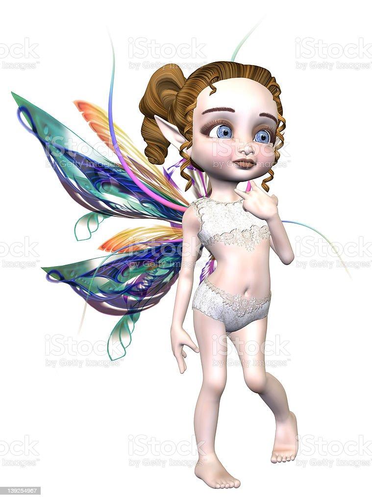 Romantic & Cute Fairy royalty-free stock photo