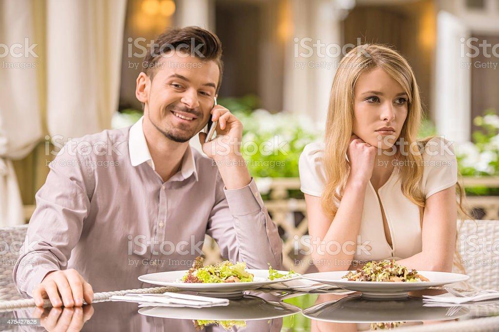 Romantic date stock photo