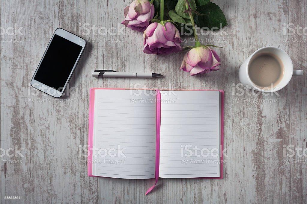 Composition romantique bureau - Photo