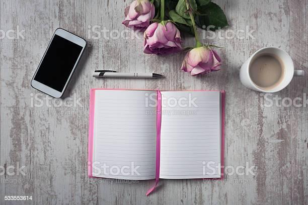 Photo of Romantic Desk Arrangement