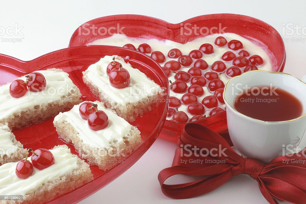 Romantic dessert. royalty-free stock photo