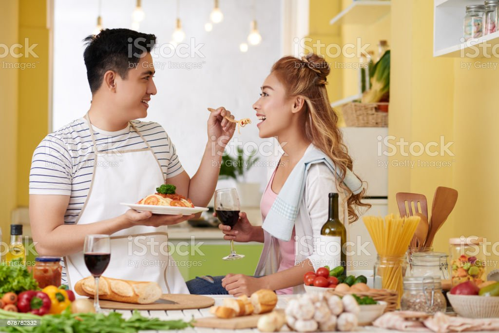 Evde romantik akşam yemeği royalty-free stock photo