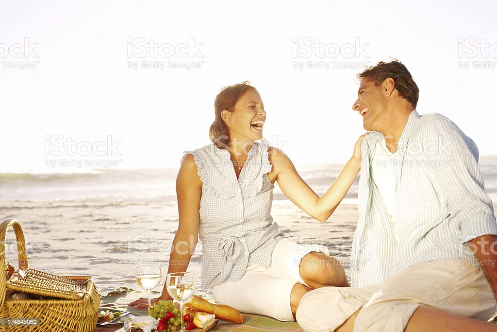 Romantic dinner at sunset royalty-free stock photo