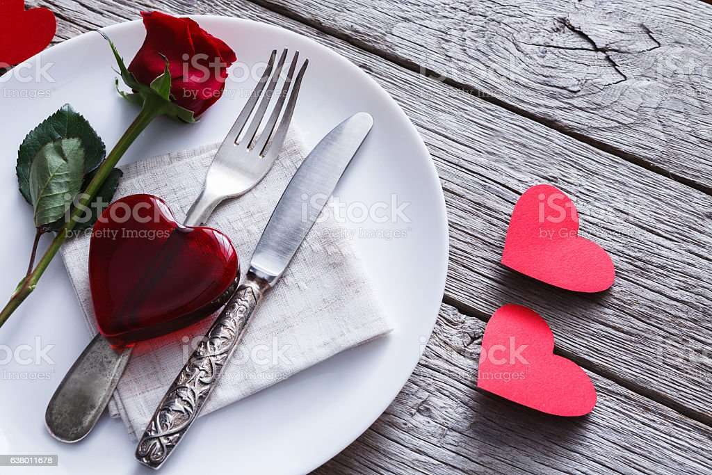 Romantic dinner concept. Valentine day or proposal background - foto de stock