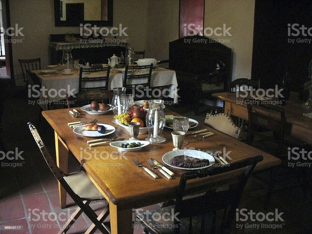 Romantic Dinner for Four royalty-free stock photo