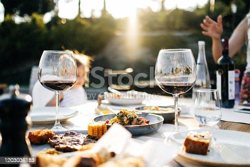 Rustic Rump Steak and red wine