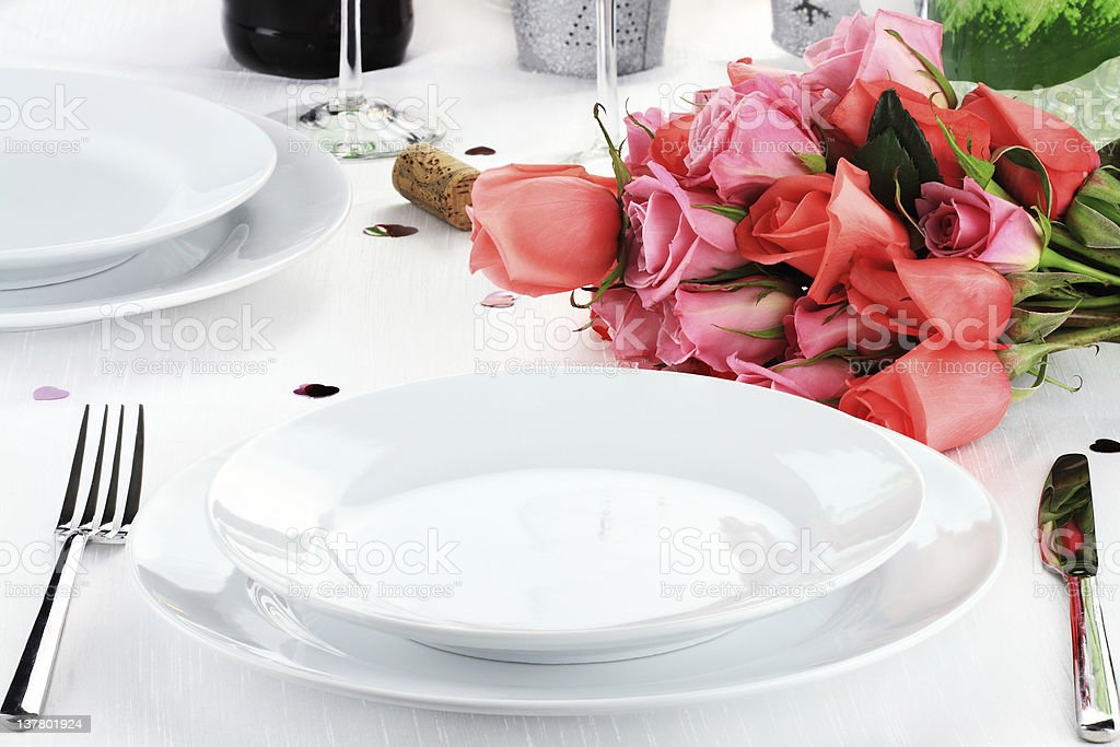 Romantic Dinner for Two royalty-free stock photo
