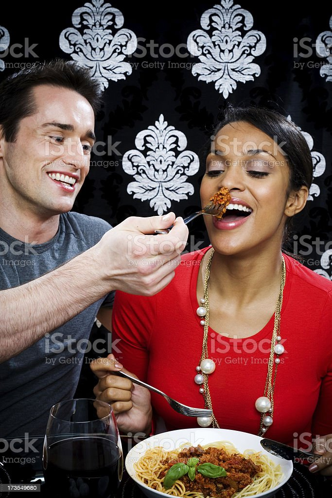 Romantic dinner royalty-free stock photo