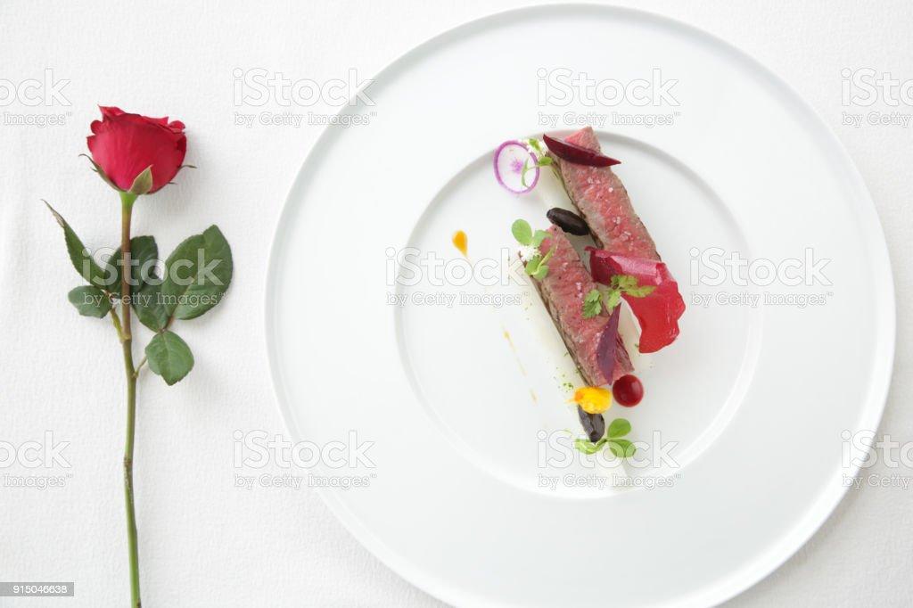 Jantar romântico - foto de acervo