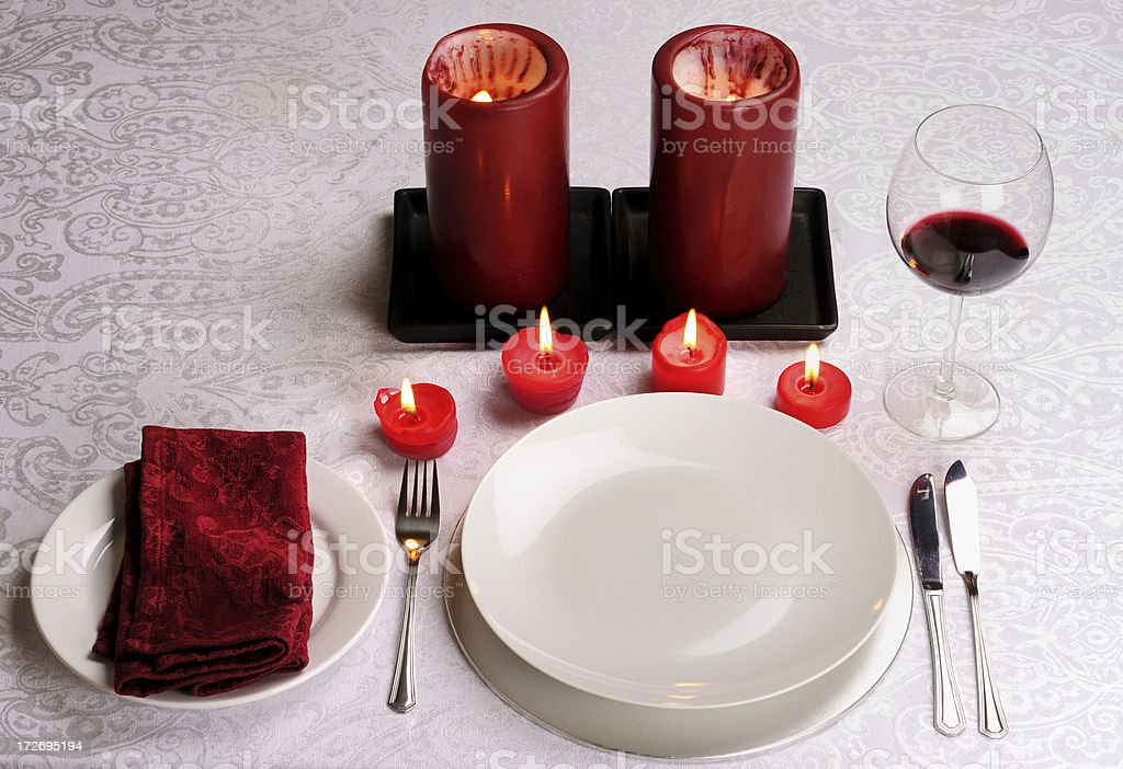 Romantic Dinner Place royalty-free stock photo