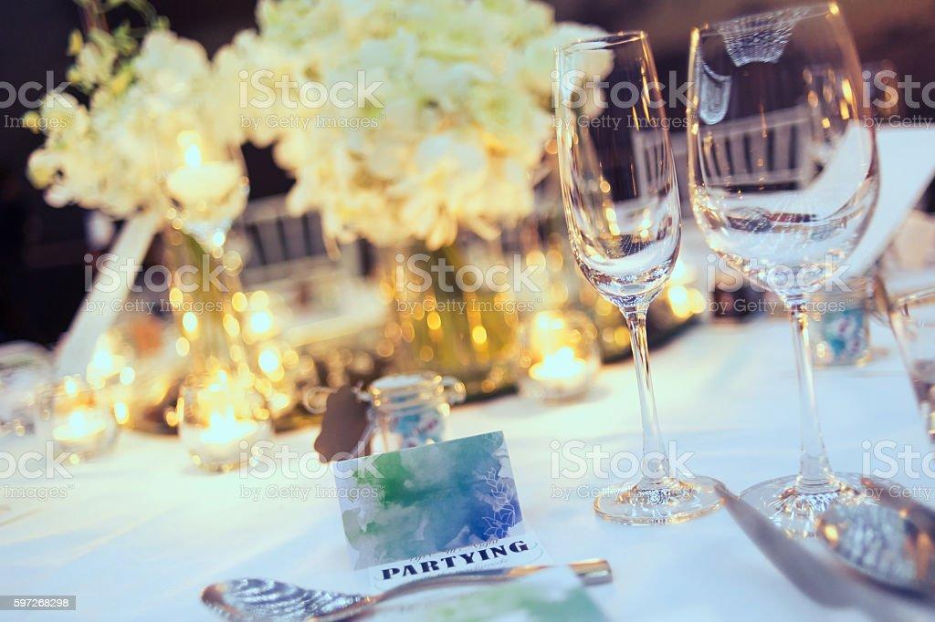 Romantic dinner setup royalty-free stock photo