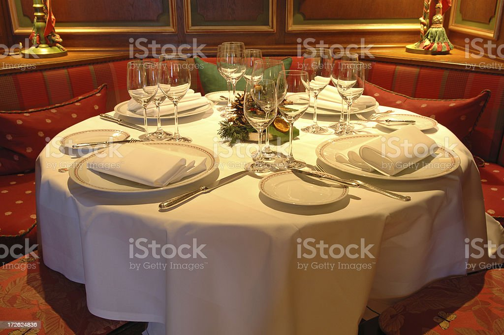 romantic dinner table royalty-free stock photo