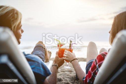 Romantic evening at the beach