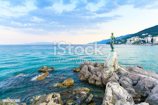 Beautiful view on adriatic sea in opatija.
