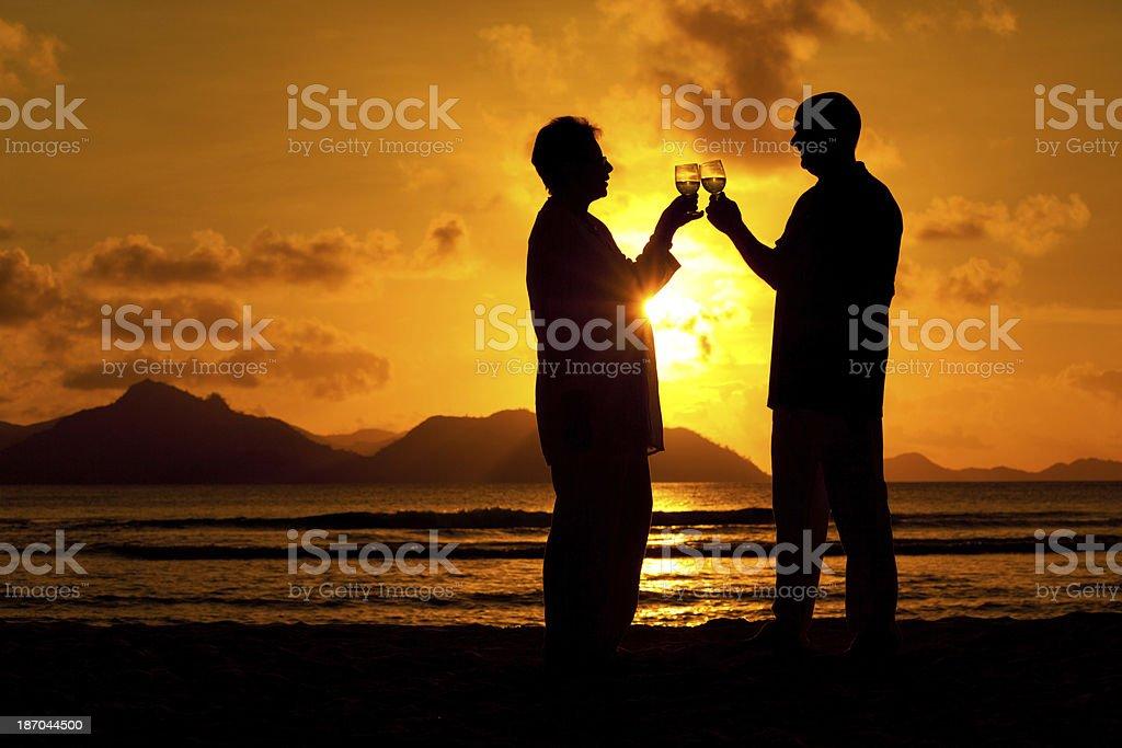 romantic evening on the beach royalty-free stock photo