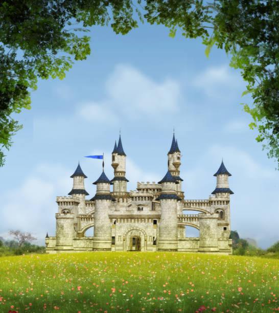castelo de fantasia romântica - castelo - fotografias e filmes do acervo