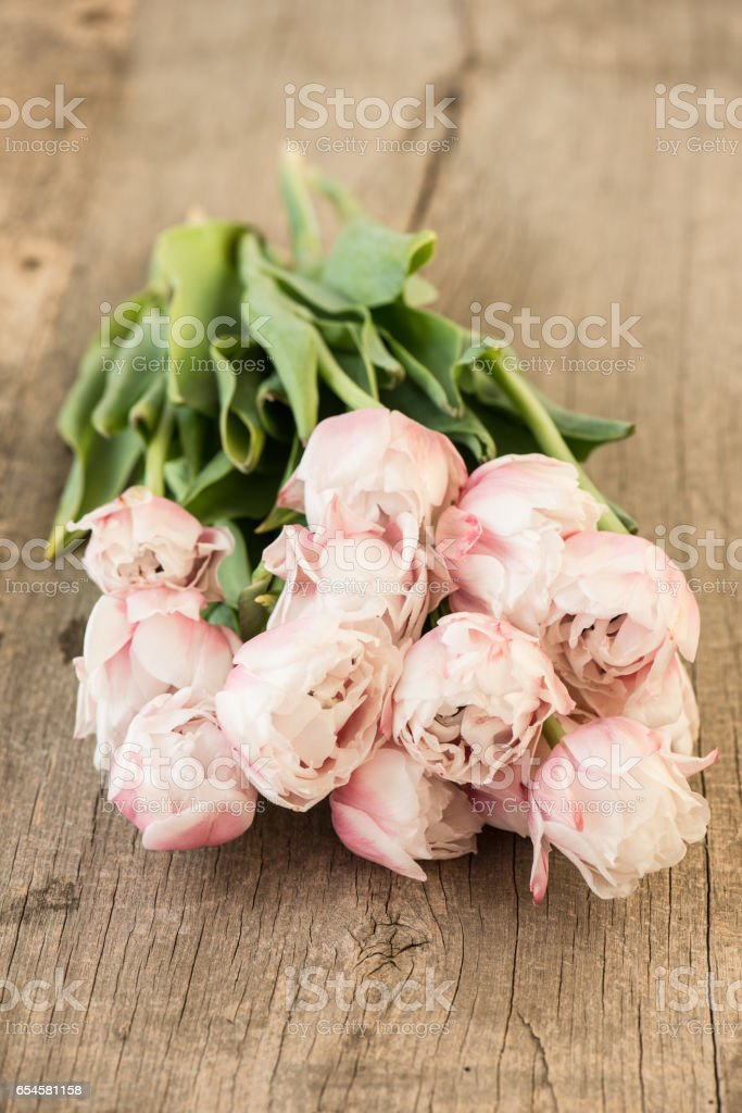 Romantic Flower Bouquet On Vintage Wooden Background Stock Photo Download Image Now Istock
