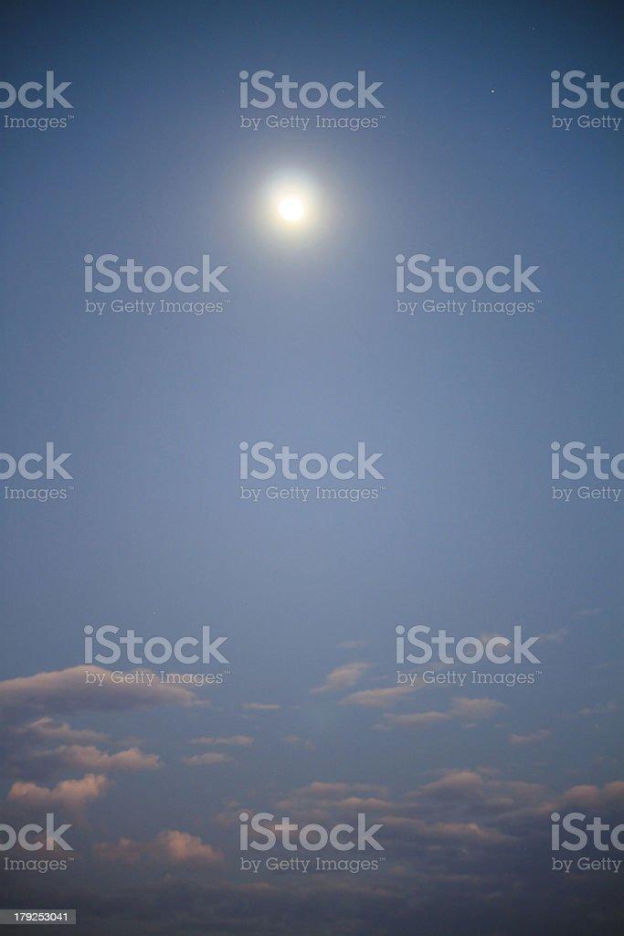 Romantic full moon royalty-free stock photo