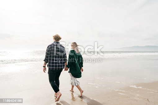 Young adults on the beach