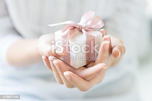 istock Romantic gift box 476857042