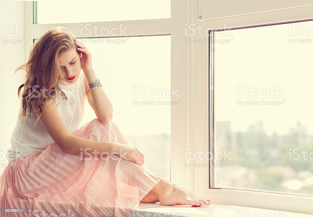 Romantic girl stock photo