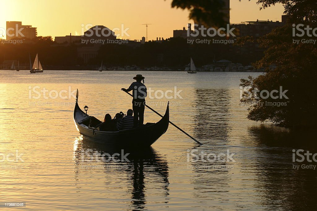 Romantic Gondola stock photo