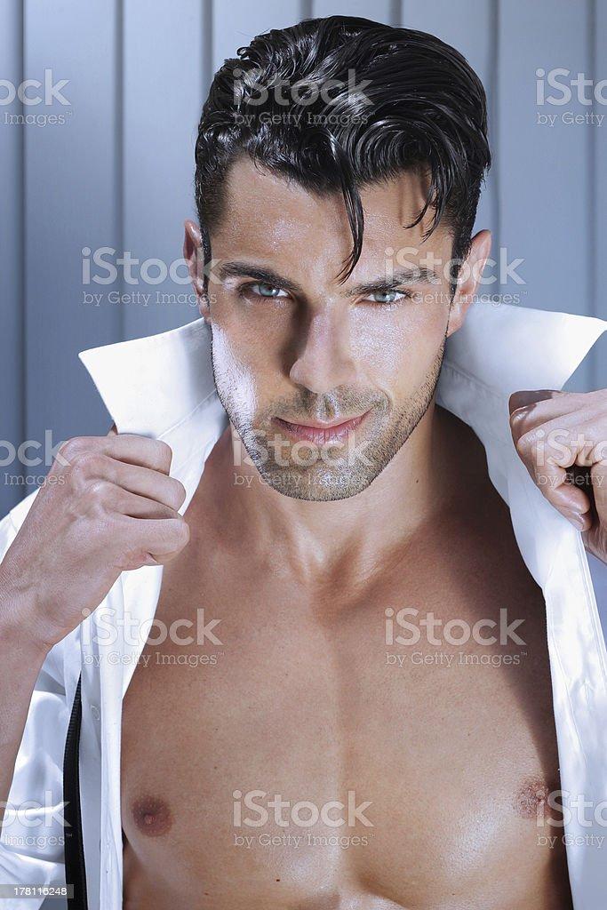 Romantic guy stock photo