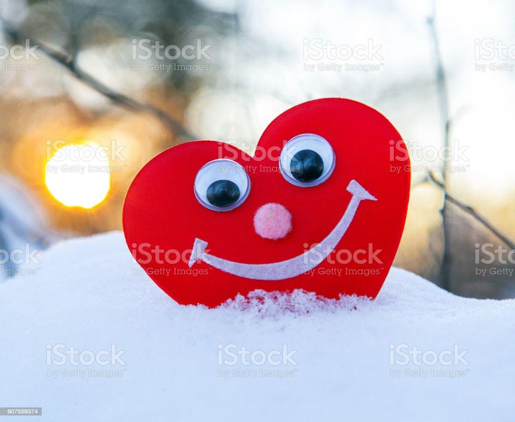 romantic heart for Valentine's Day stock photo
