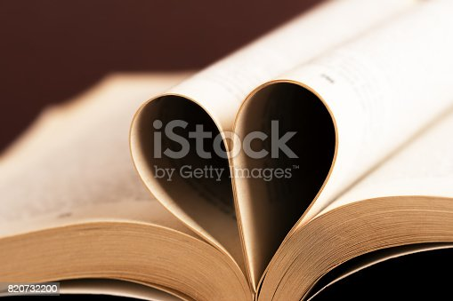 503130452istockphoto Romantic heart-shaped page book 820732200