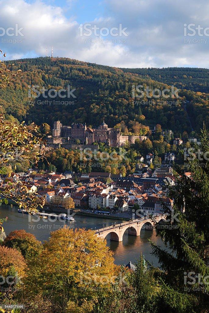 Romantic Heidelberg in Autumn royalty-free stock photo