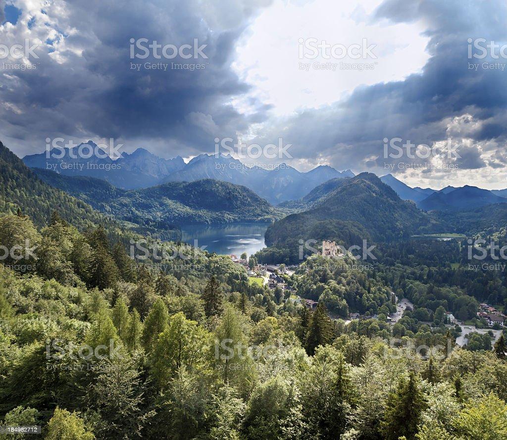 Romantic Hohenschwangau Castle, Germany stock photo