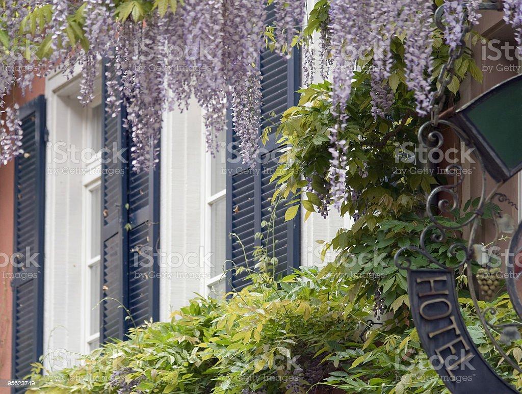 romantic hotel facade royalty-free stock photo