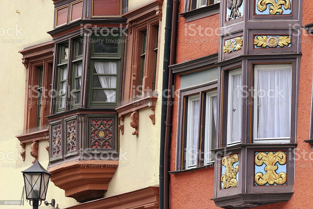 Romantic housefront close up royalty-free stock photo