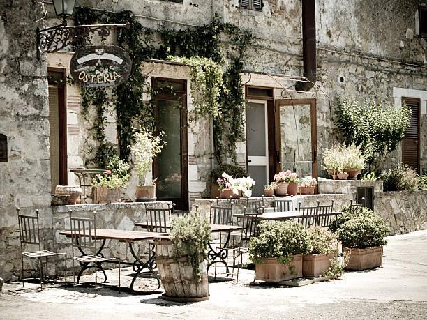Romantic Italian Osteria..... stock photo