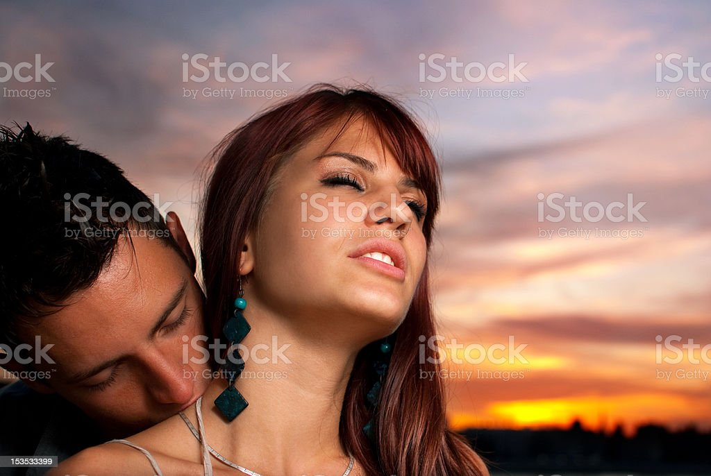 romantic kiss in the neck stock photo amp more pictures of