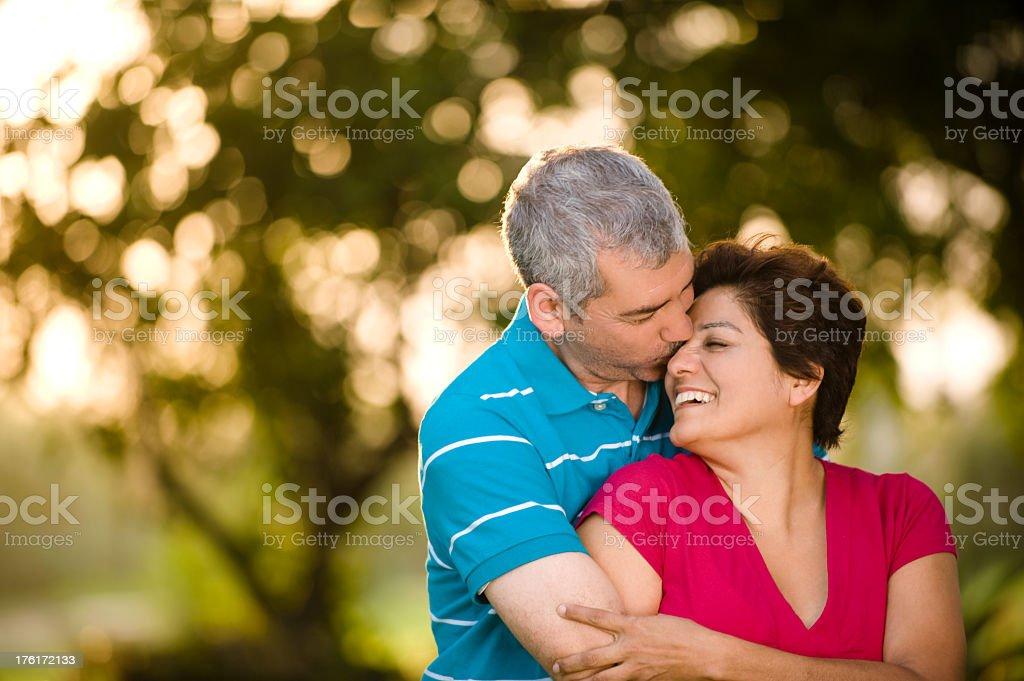 Romantic kiss royalty-free stock photo