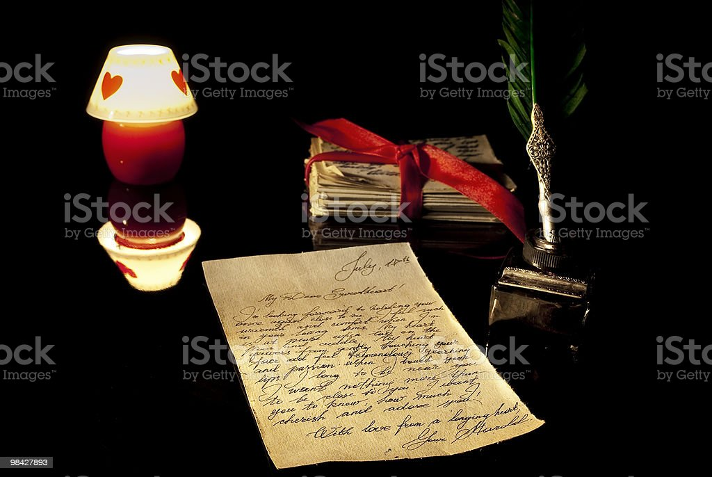 Romantica Lettera d'amore foto stock royalty-free