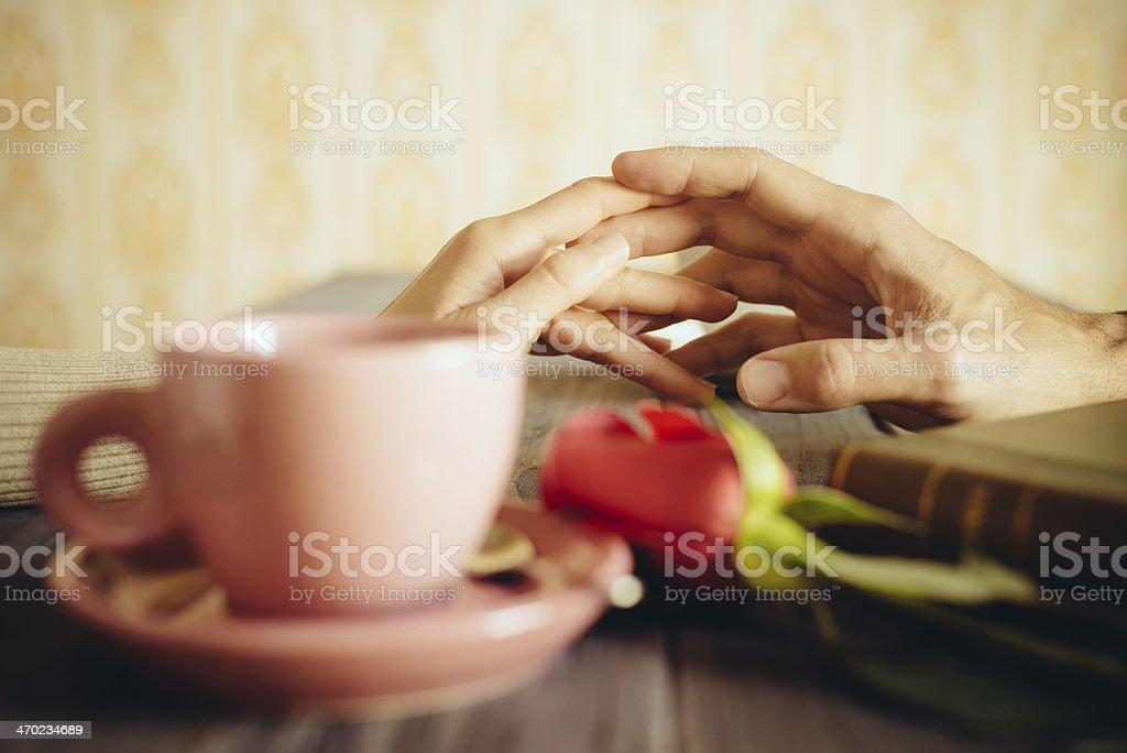 Romantische Liebhaber dating auf coffee shop – Foto