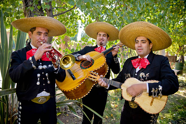 Romantic Mariachi Band stock photo