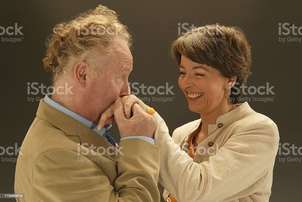 romantic mature couple royalty-free stock photo