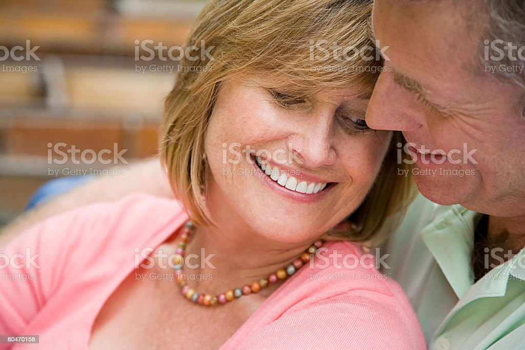 Romantic mature couple 免版稅 stock photo