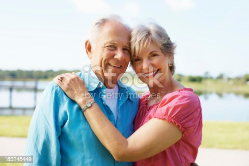 510491454 istock photo Romantic, mature couple standing together 183245449