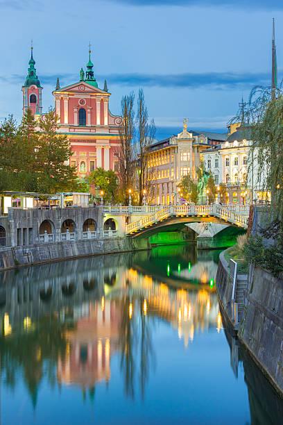 Romantische mittelalterliche Ljubljana (Slowenien, Europa. – Foto